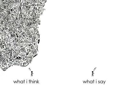 think say